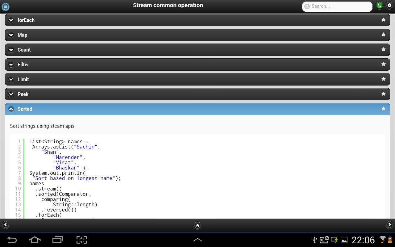 Java 8 Features with Examples for Android - APK Download