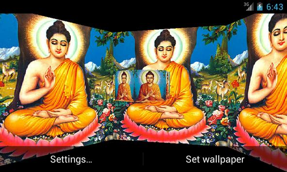 Lord Budha 3D Live Wallpaper Poster