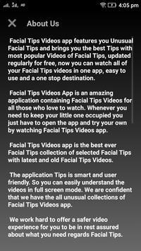 Facial Tips Videos screenshot 2