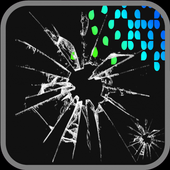 Cracked prank screen touch icon