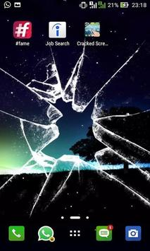 Cracked prank screen touch poster