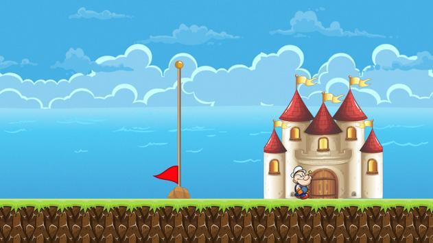 Popaye Spinach Man Jungle Game apk screenshot