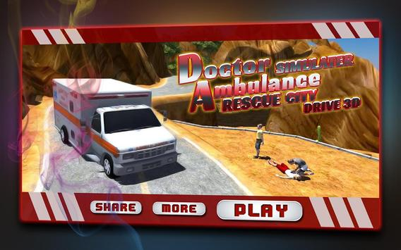 Doctor Ambulance Rescue City Drive 3D Simulator poster