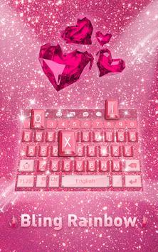 Bling Rainbow Keyboard Theme poster