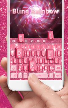 Bling Rainbow Keyboard Theme screenshot 2