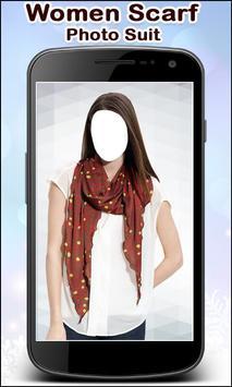 Women Scarf Photo Suit New screenshot 1