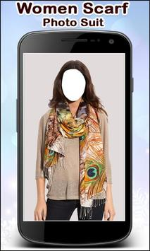 Women Scarf Photo Suit New screenshot 2