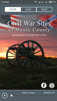 Maury County Civil War Tour poster