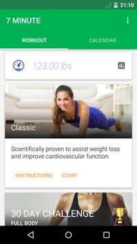 7 Minute Workout تصوير الشاشة 1