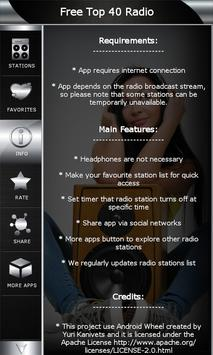 Free Top 40 Radio screenshot 5