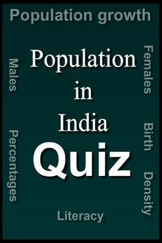 Population in India Quiz poster