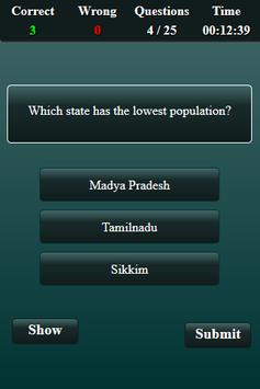 Population in India Quiz screenshot 3