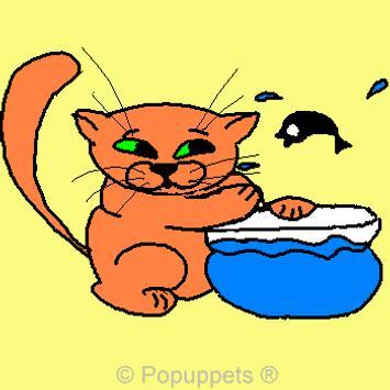 Cartoon Pet Kitty Cat Kitten poster