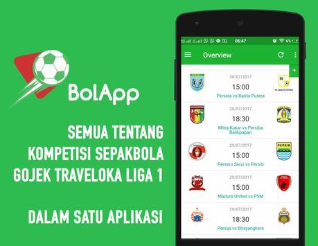 BolApp - Liga Indonesia / Gojek Traveloka Liga 1 poster
