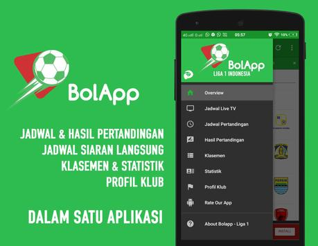 BolApp - Liga Indonesia / Gojek Traveloka Liga 1 apk screenshot