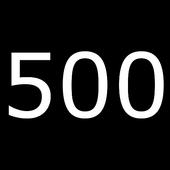 500回ボタン icon