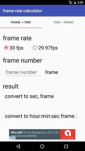 Timecode(Frame) converter APK تحميل - مجاني أعمال تطبيق لأندرويد ...