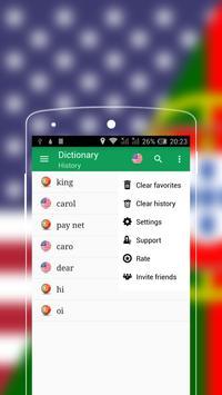 English-Portuguese Dictionary apk screenshot