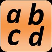 Portuguese alphabet for university students icon