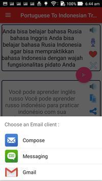 Portuguese Indonesian Translator screenshot 15