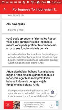Portuguese Indonesian Translator screenshot 12