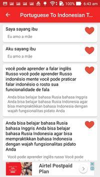 Portuguese Indonesian Translator screenshot 13
