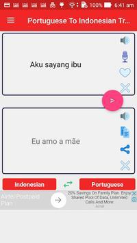 Portuguese Indonesian Translator screenshot 1