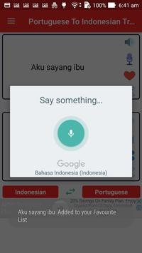Portuguese Indonesian Translator screenshot 2