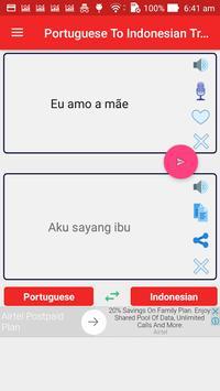 Portuguese Indonesian Translator screenshot 8
