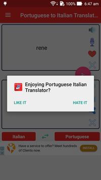 Portuguese Italian Translator apk screenshot