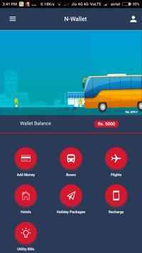 N Wallet  - Online Bus, Flight, Hotel Booking poster
