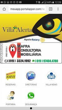 Villa alerta poster
