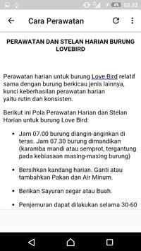 Kicau Lovebird Ngekek Panjang Offline apk screenshot