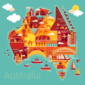 Australian quiz icon