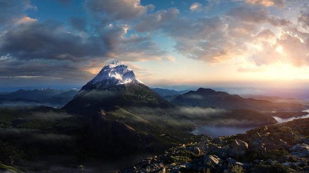 Mountain Top Wallpaper poster