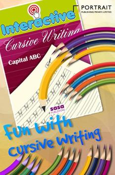 ABCD Kids Cursive Writing Free poster