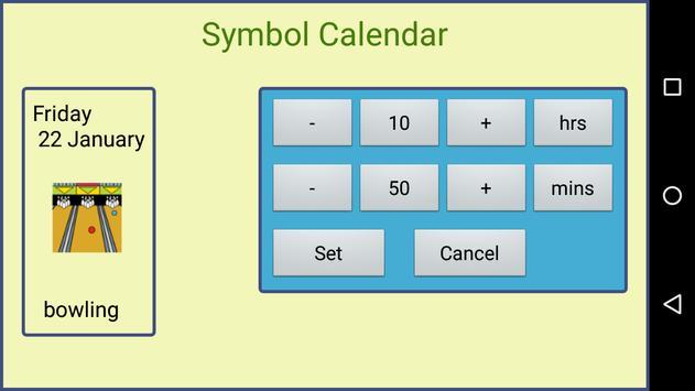 Symbol Calendar AAC Lite apk screenshot