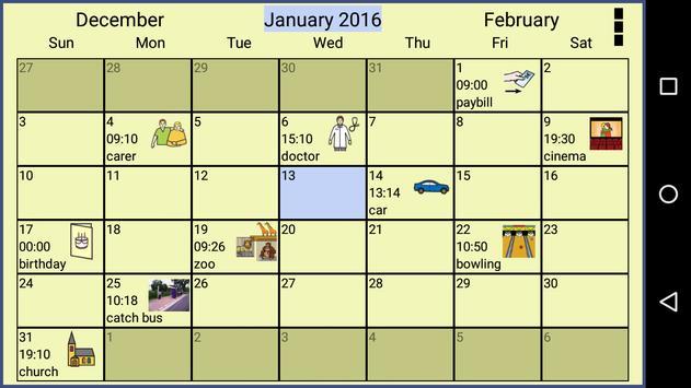 Symbol Calendar AAC Lite poster