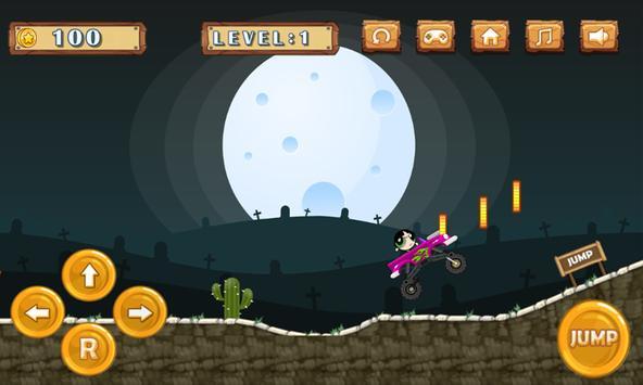 Power Girl Hill Climb screenshot 1