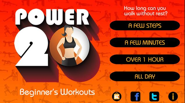 20 Min Beginners Workout Free poster