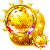 Golden Clock Live Wallpaper icon