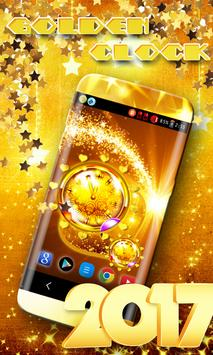 Golden Clock Live Wallpaper poster