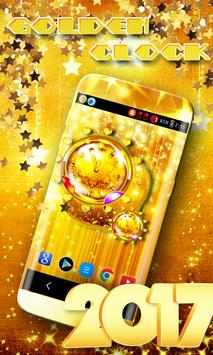 Golden Clock Live Wallpaper apk screenshot