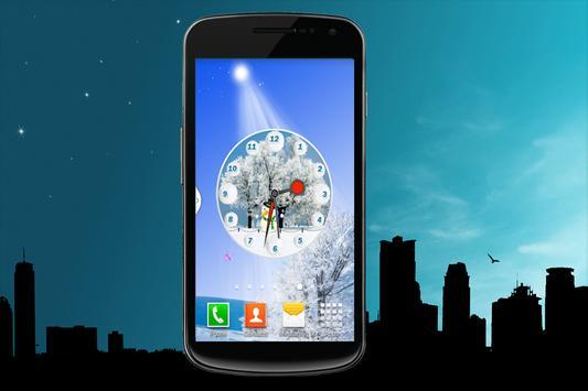 Snow Fall Clock screenshot 1