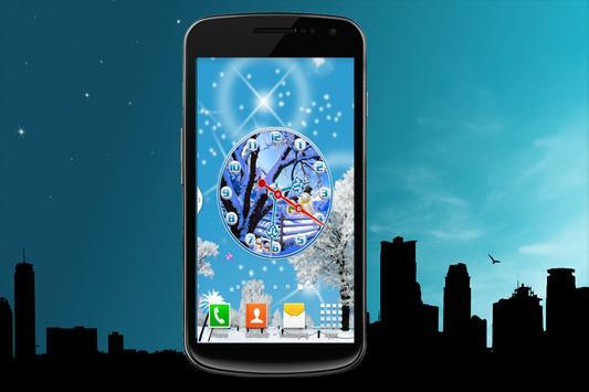 Snow Fall Clock screenshot 2