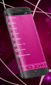 Pink pearl Poweramp Skin screenshot 2