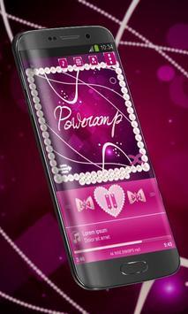 Pink pearl Poweramp Skin poster