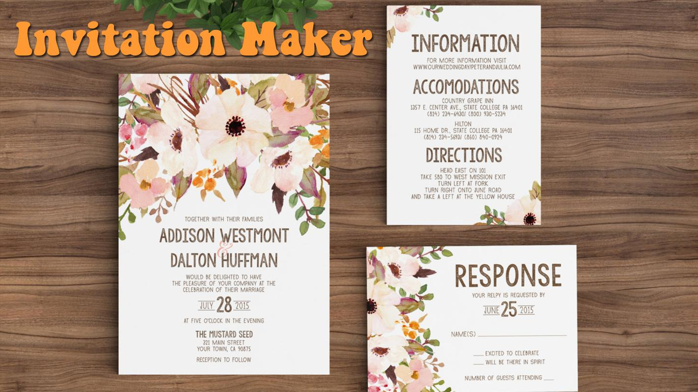 Pro invitation maker for android apk download pro invitation maker poster pro invitation maker screenshot 1 stopboris Choice Image