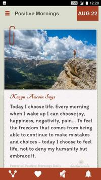 Power Of Positive Mornings Daily screenshot 1