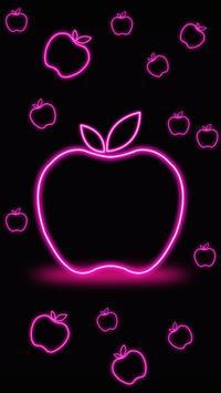 Neon Apple Live Wallpaper Poster